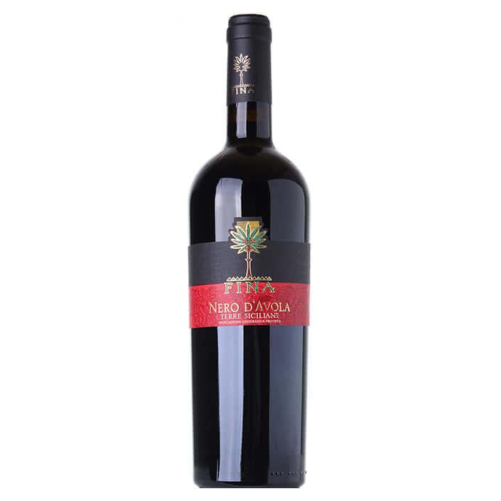 vino rosso nero avola fina - nero d'avola - fina