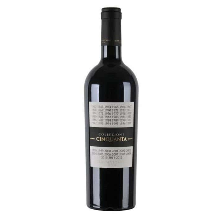 Vino Rosso Primitivo Negramaro Collezione 50 San Marzano Puglia 2012 705x705 - Collezione Cinquanta Cantine San Marzano
