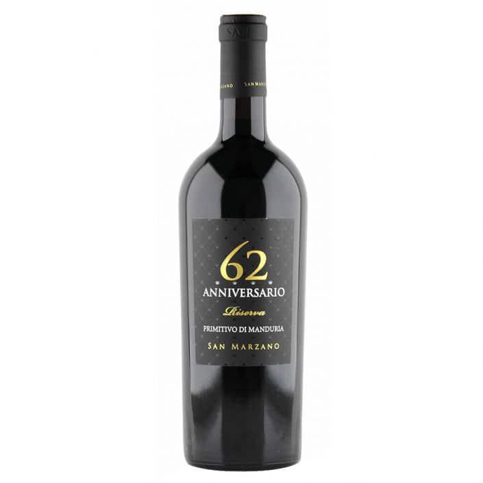 Vino Rosso Primitivo di Manduria Dop Anniversario 62 Riserva San Marzano Vintage 2015 705x705 - Anniversario 62 Primitivo di Manduria San Marzano