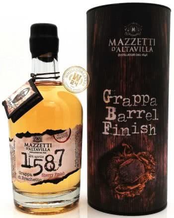 Mazzetti dAltavilla Grappa di Brachetto Barrel Sherry Finish 43 050l whiskyonline24 2 350x438 - 1587 Grappa Di Brachetto Special Cask Finish