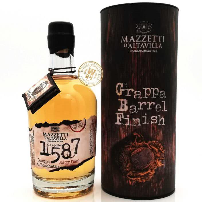Mazzetti dAltavilla Grappa di Brachetto Barrel Sherry Finish 43 050l whiskyonline24 2 705x705 - 1587 Grappa Di Brachetto Special Cask Finish