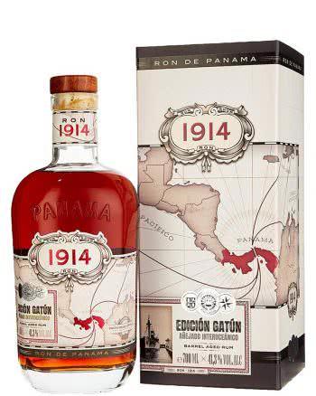 Ron de Panama 1914 edicion gatun barrel aged rum in astuccio