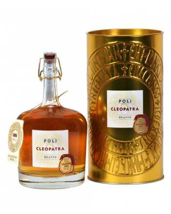 "grappa cleopatra amarone oro astucciata distilleria jacopo poli 350x438 - Grappa Poli ""cleopatra"" Amarone"