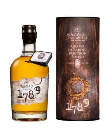 1789 Grappa Di Barolo Bourbon Mazzetti d Altavilla 350x438 - 1789 Grappa di Barolo Special Cask Finish